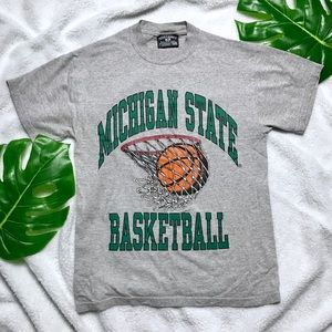 Vintage Michigan State Basketball Tee T-shirt - S